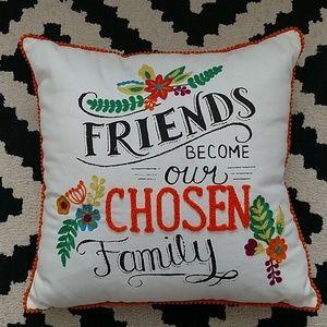 Other - Friends Chosen Family Pom Throw Pillow 16x16